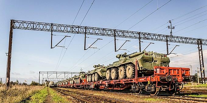 Wojskowy transport w Chałupkach