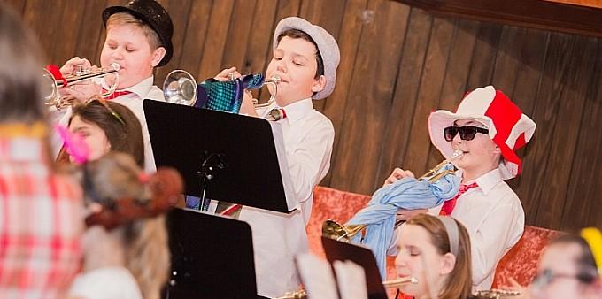 Koncert karnawałowy w szkole muzycznej