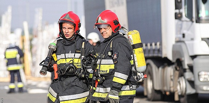 Wielkie ćwiczenia strażaków w Kornicach
