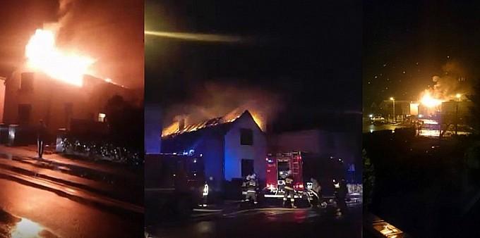 Pożar domu przy ul. Głównej w Tworkowie