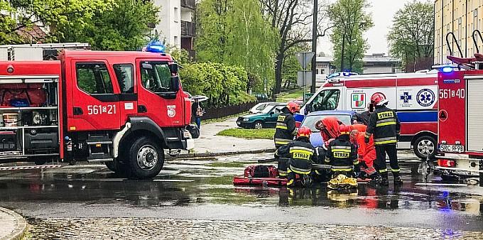 Potrącenie rowerzysty na ul. Drzymały